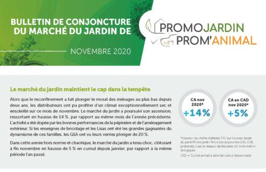 Bulletin de Conjoncture du Marché du Jardin – Novembre 2020
